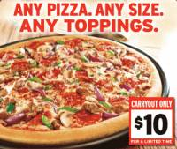 Pizza Hut Deals Any Pizza For 10 And Free Stuffed Pizza Rollers Myrtle Beach On The Cheap