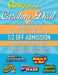 Half Price Admission To Ripley S Aquarium For Carolina