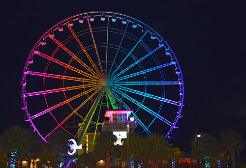 Myrtle Beach Skywheel at night