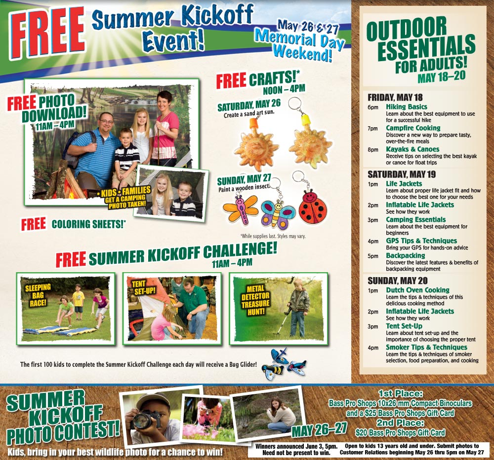 Free Summer Kickoff Event At Bass Pro Shops Myrtle Beach