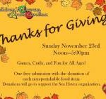 Free 'Thanks for Giving' Event at CMSC