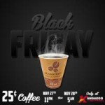 25 Cent Coffee at Kangaroo Express on Black Friday